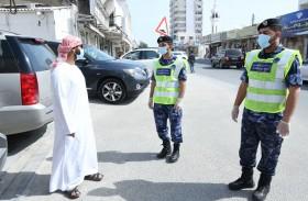 دوريات شرطة رأس الخيمة للتوعية بخطورة تجمعات حق الليلة