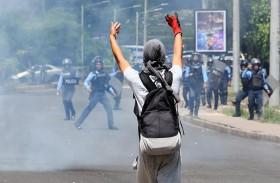جرحى بإطلاق النار على متظاهرين في هندوراس