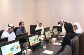 محمد الشرقي يطلع على خطط الفجيرة للموارد الطبيعية للتحول الرقمي