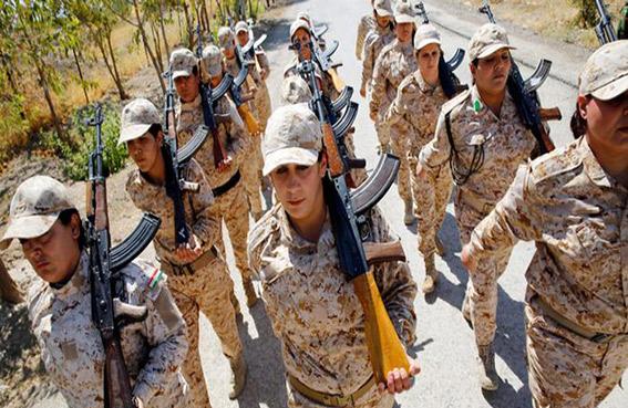 ثلث المقاتلين الأكراد في عين العرب نساء