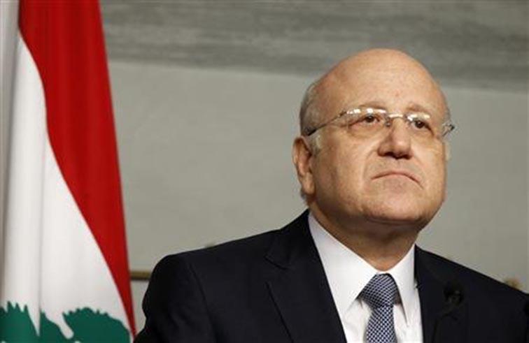 ميقاتي يحذر من انعكاسات أزمة سوريا على لبنان
